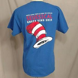 Dr Seuss Greek Sing Seussical 2015 T shirt Tee M